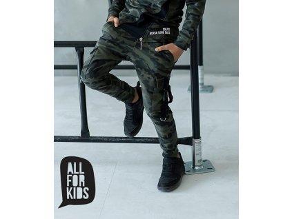 KALHOTY s přezkami ALL FOR KIDS army