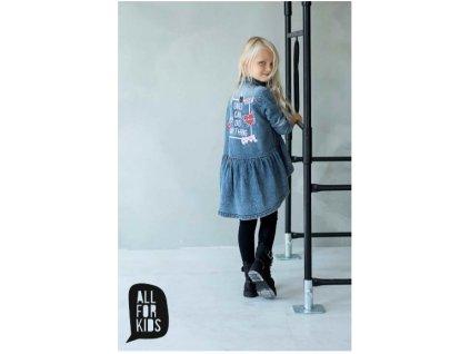 Fashionistka: TUNIKA košilová JEANS modrá