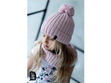 PINK  termo zimní čepice + nákrčník