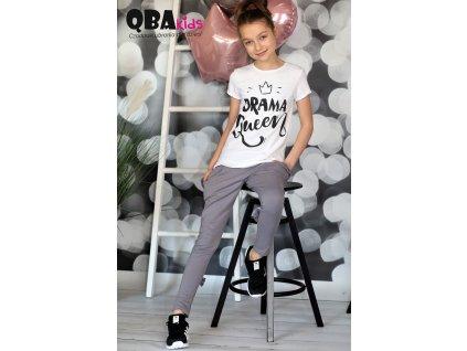 Fashionistka: TRIČKO s potiskem QBA kids bílé
