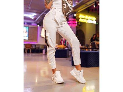 Fashionistka: KALHOTY MISS CITY bílé