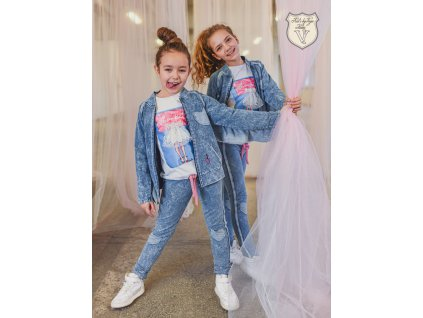 Fashionistka: SET legíny a bundička DENIM