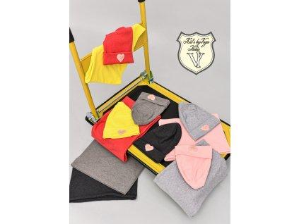 Fashionistka: SET čepice a nákrčník KIDS by VOGA ITALIA žlutý