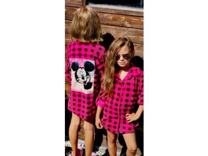 Fashionistka: Košile MINNIE karo růžová