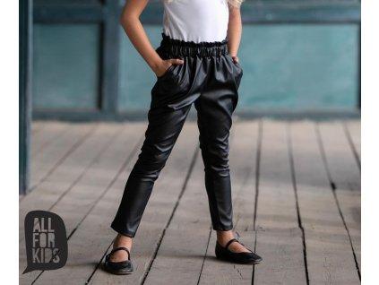 Fashionistka: KALHOTY kožené ALL FOR KIDS černé