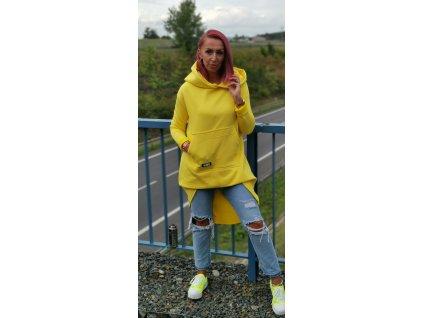 MIKINA #MCI dlouhá žlutá