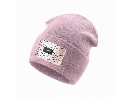 WOOLK čepice/ světle růžová