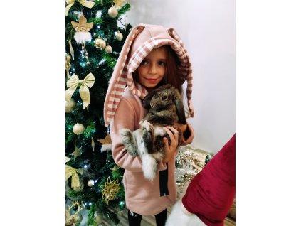 BUNNY mikinový kabátek /růžový