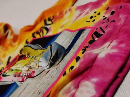 Mikina FASHION batik s kapuci