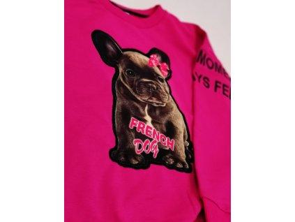 Fashionistka: MIKINA FRENCH DOG růžová