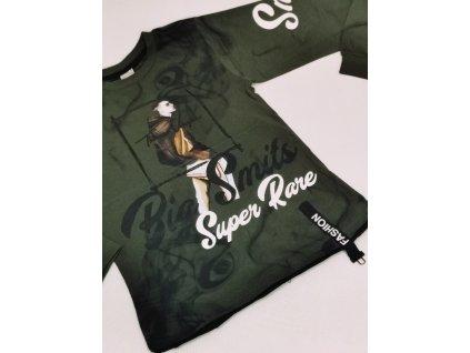Fashionistka: TRIČKO s potiskem SUPER RARE zelené