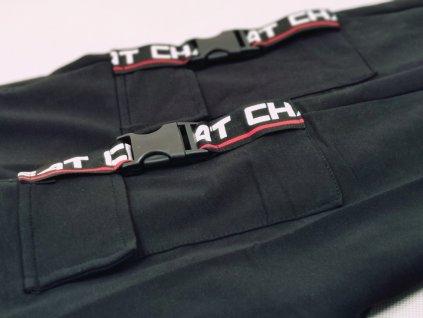 Tepláky černé s kapsami