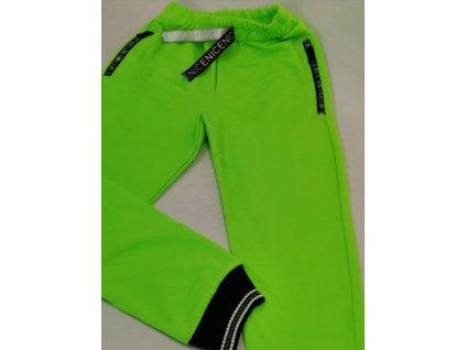 Tepláky neon zelené