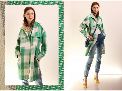 Fashionistka: KABÁT košilový zelený