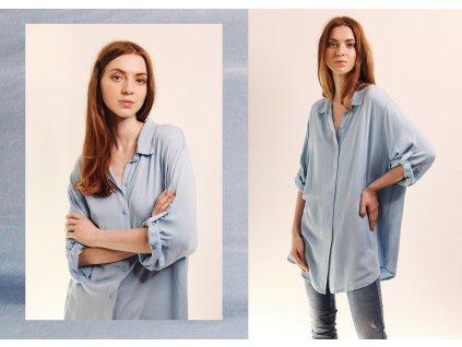 Fashionistka: HALENKA dlouhá J´ADORE modrá