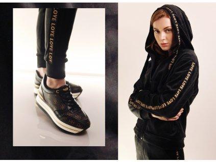 Fashionistka: SOUPRAVA tepláková LOVE černá