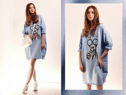 TUNIKA dámská JUST MAKE modrá