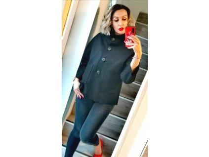 Fashionistka: KABÁT krátký černý