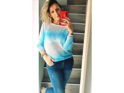 Fashionistka: SVETR lehký BABY modrý