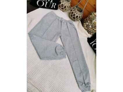 Kalhoty teplákové MOOSE/ šedé
