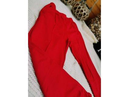 Kalhoty teplákové MOOSE/ červené