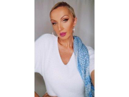Fashionistka: Dámský svetr s krátkým rukávem