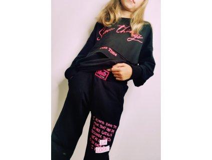 Fashionistka: Kalhoty teplákové dívčí LA LOCA černé