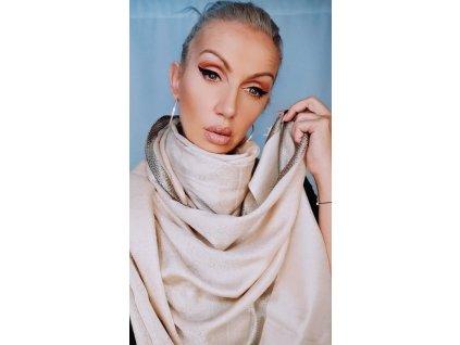 Fashionistka: Béžový šál, šála, šátek.