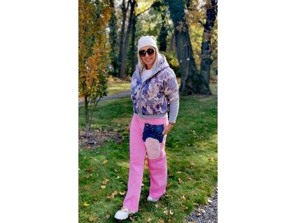 Kalhoty MISS CITY růžové