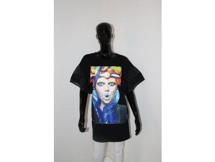 Fashionistka: ŠATY s výraznou aplikací černé