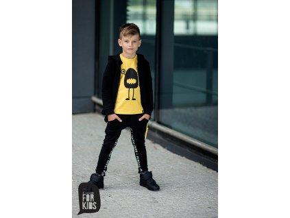 Fashionistka: TRIČKO s potiskem ALL FOR KIDS hořčicové