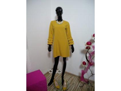 """Elegantní šaty v barvě """"hořčice"""""""