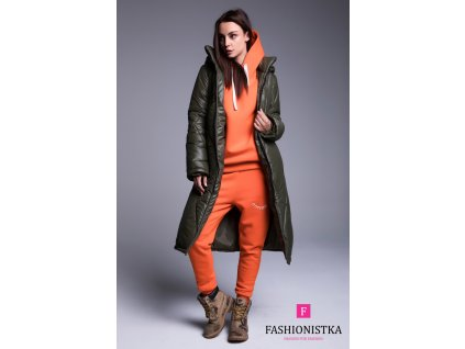 Fashionistka: BUNDA dlouhá zimní khaki