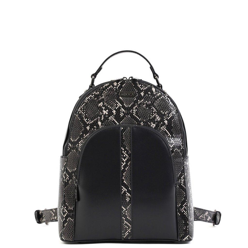 DOCA Černý batoh se vzorem