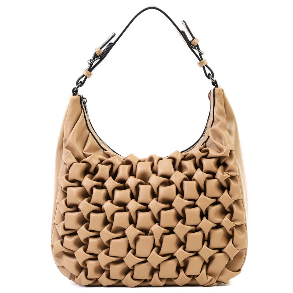 DOCA Luxusní béžová kabelka