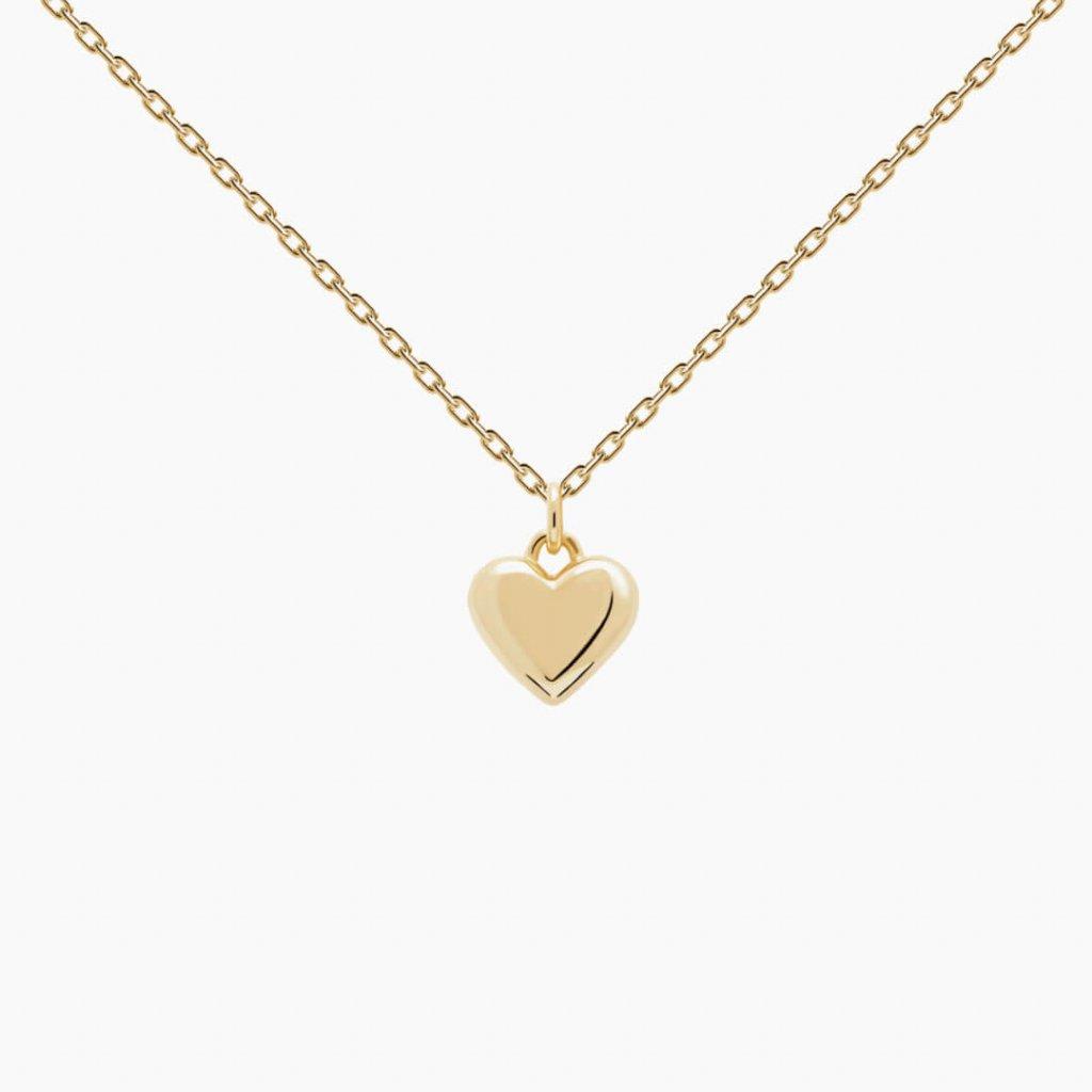 nahrdelnik srdce zlate