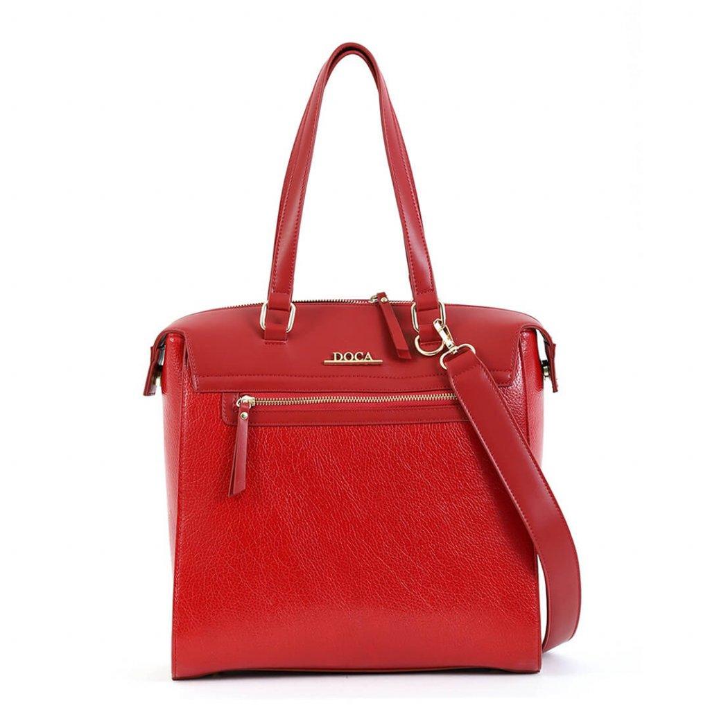 Červená kabelka  DOCA