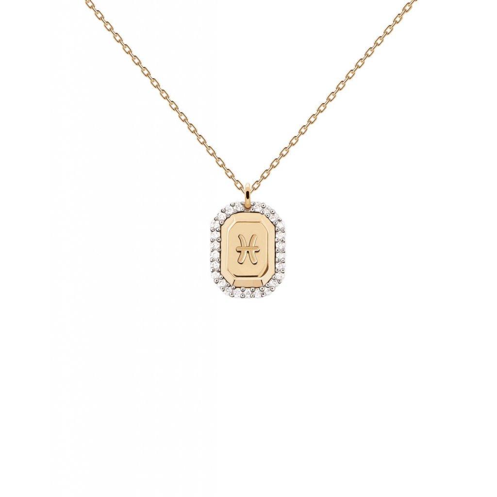 CO01 343 U RYBY náhrdelník zodiac konstelace