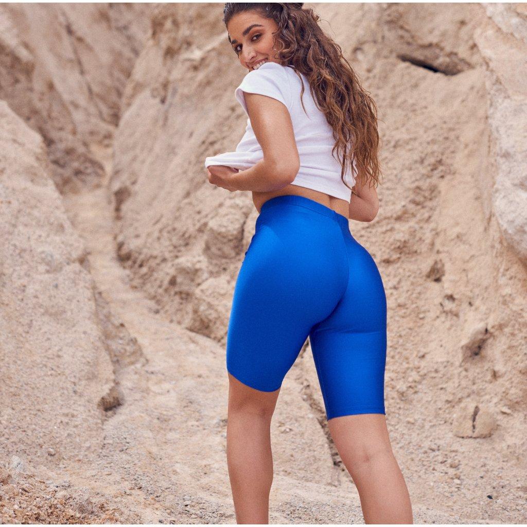 Amaryllis lesklé modré biker šortky  PCP clothing