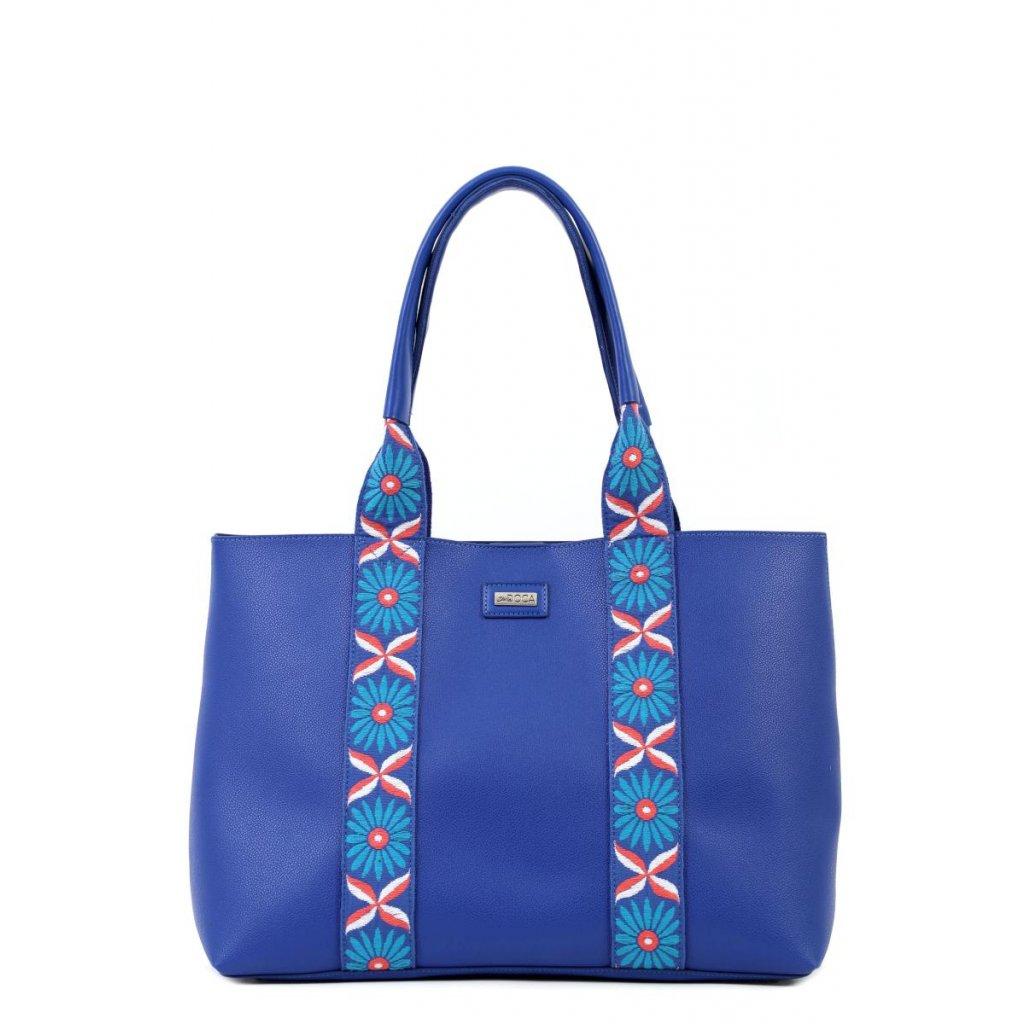 6339 modra zdobena kabelka