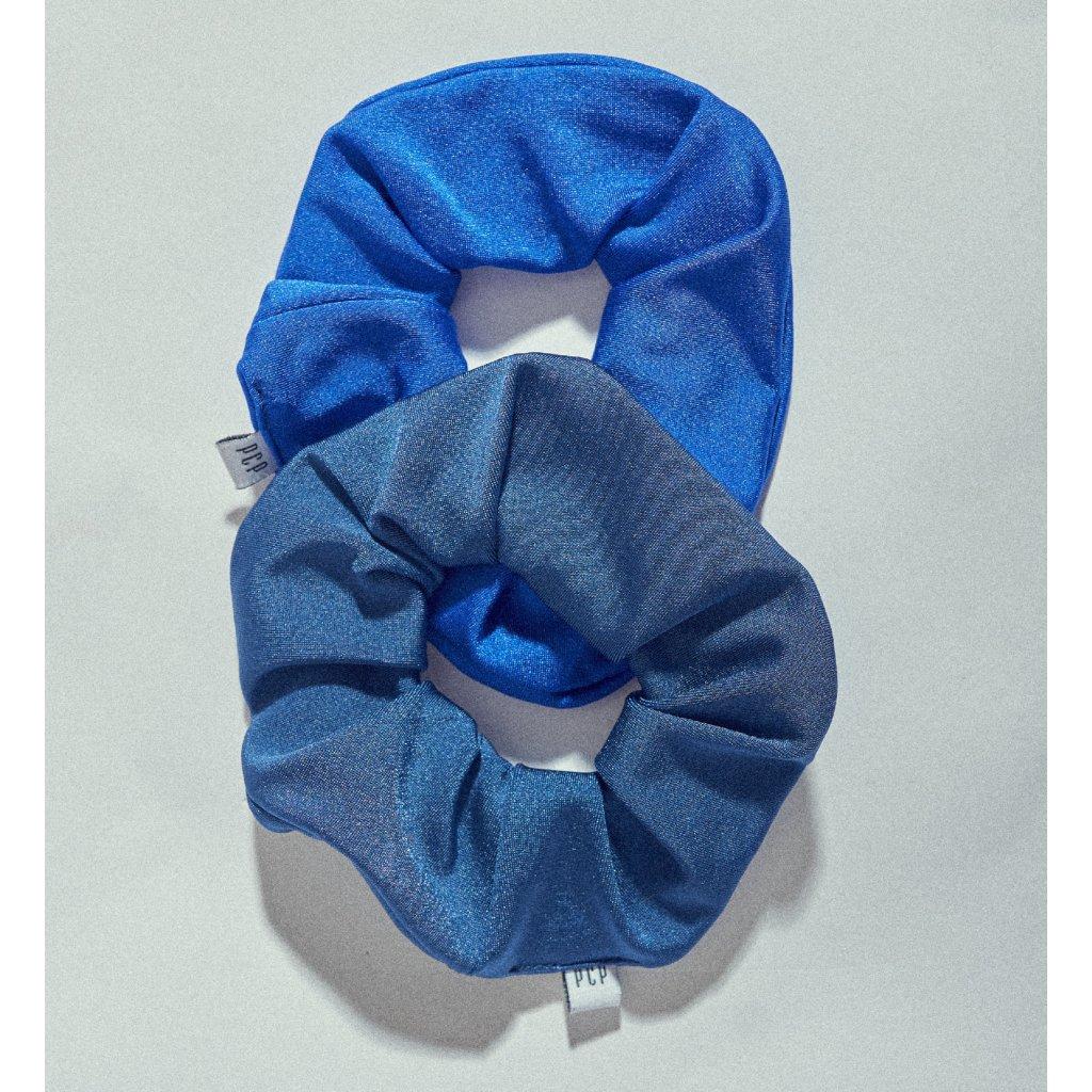 scrunchies gumicky modra