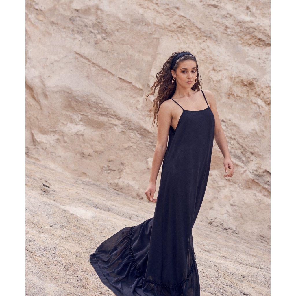 Černé maxi šaty  DOCA