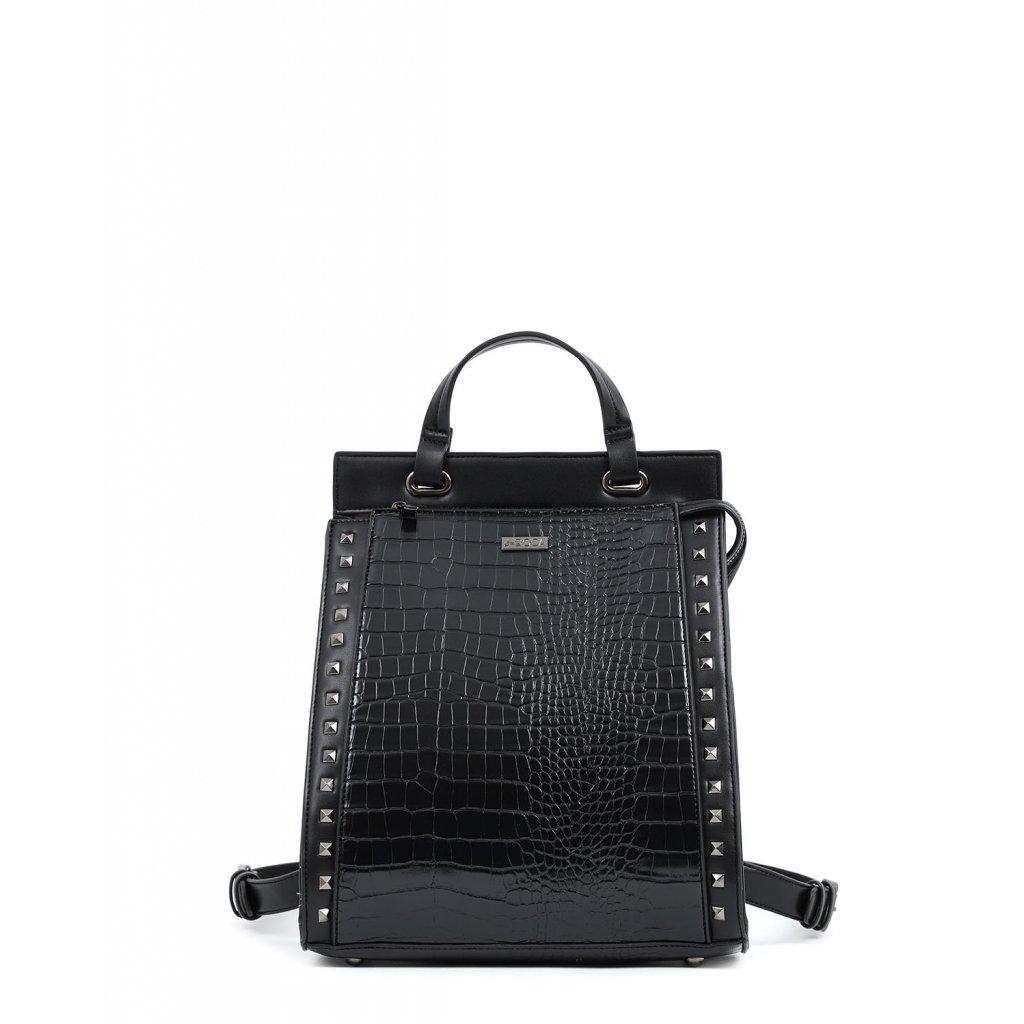 černý croco batoh  DOCA