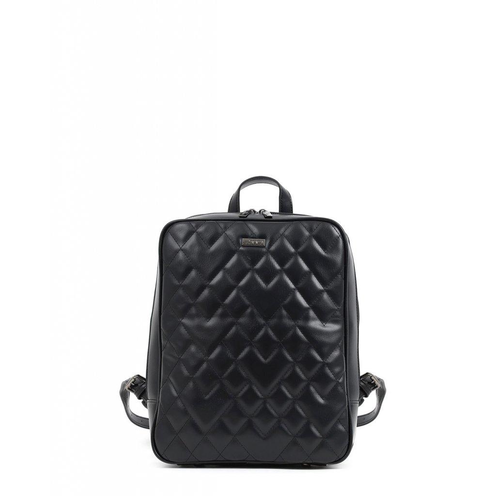 černý prošívaný batoh  DOCA