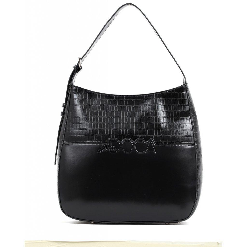 černá logo kabelka  DOCA