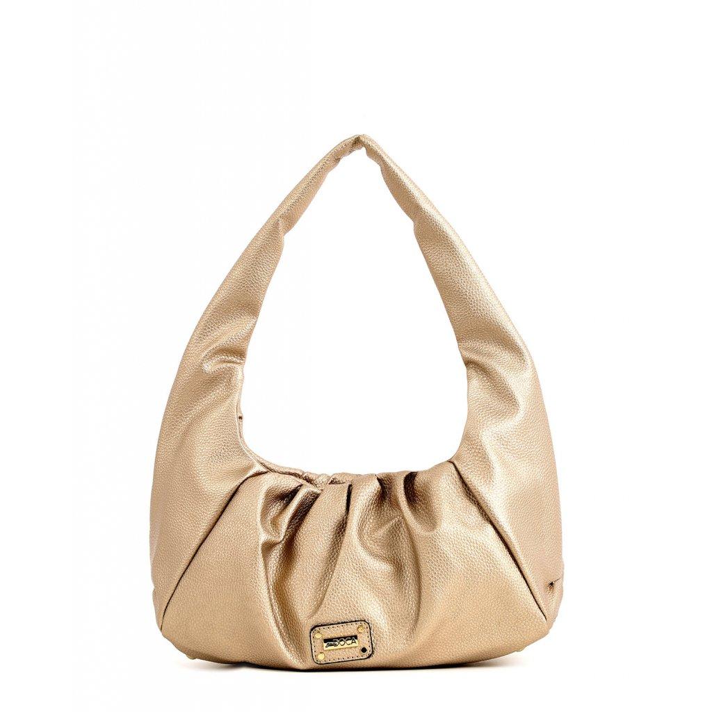 zlatá bagetová kabelka  DOCA