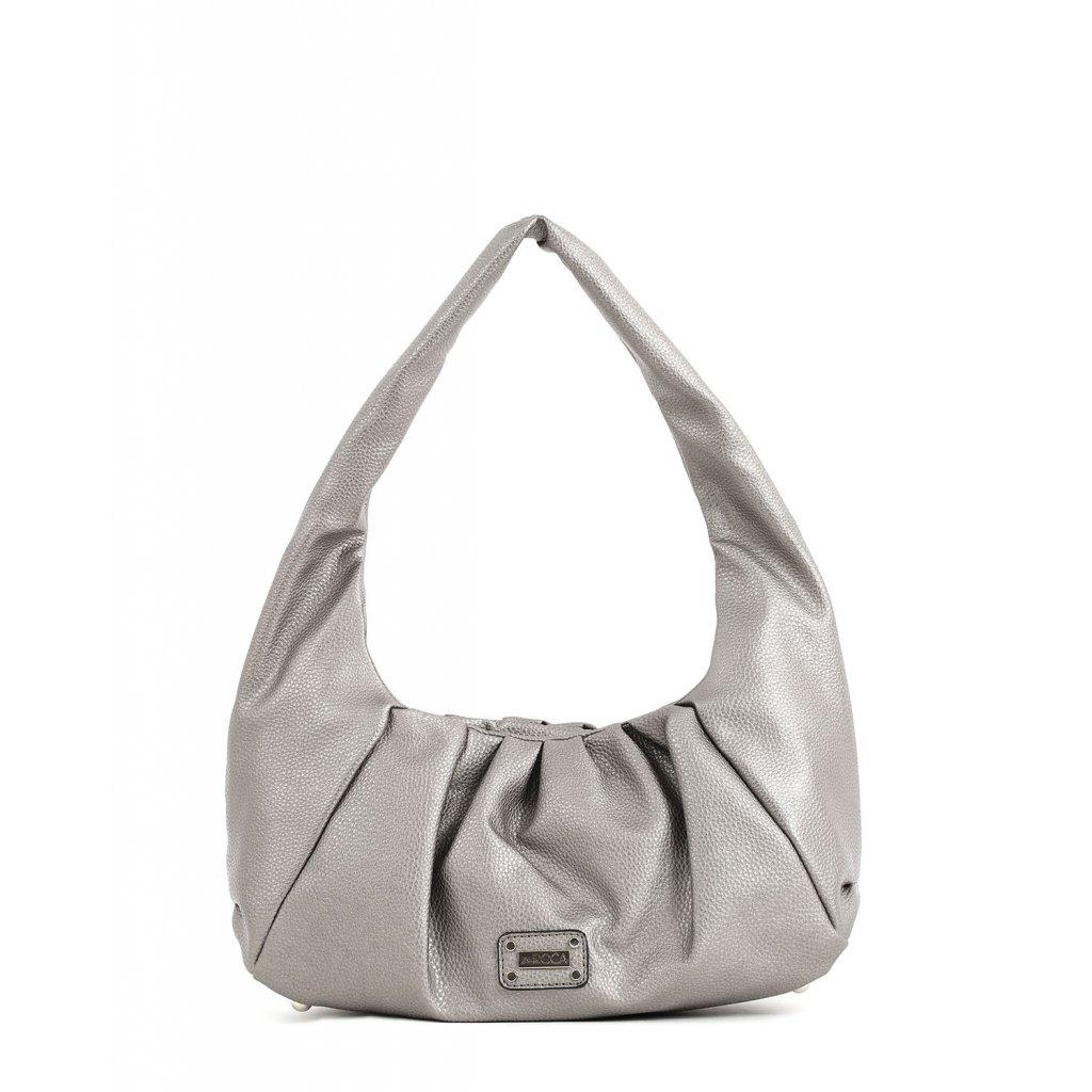 stříbrná bagetová kabelka  DOCA