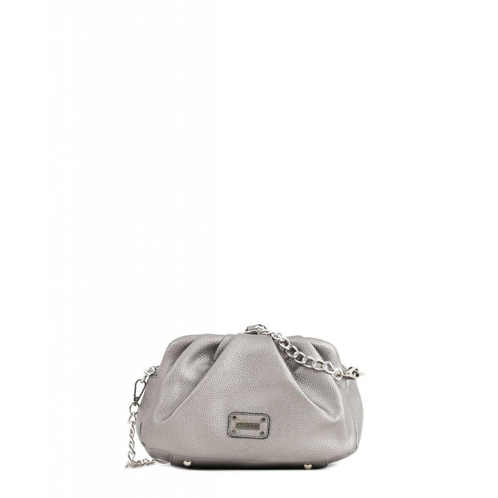 stříbrná řetízková kabelka  DOCA