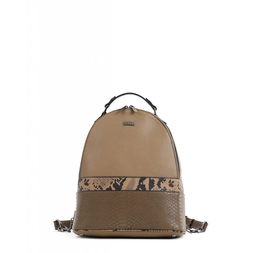 olivový designový batoh  DOCA