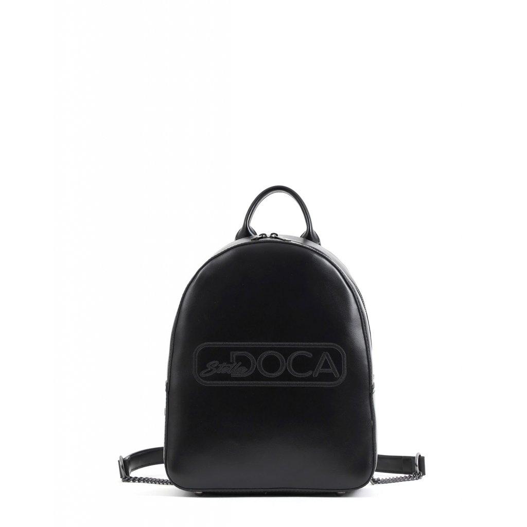 černý logo batoh  DOCA